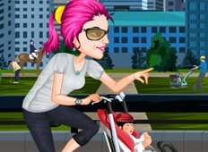 Baby Stroller Bike Game - Girls Games