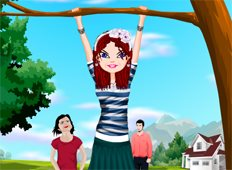 Hanging On The Tree Game - Girls Games